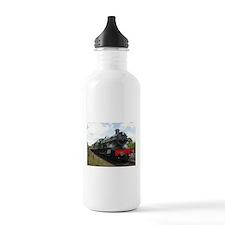 Vintage steam engine b Water Bottle