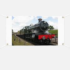 Vintage steam engine by Tom Conway Art. Rai Banner