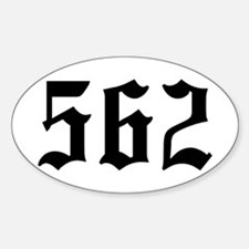 """""""562"""" Oval Decal"""