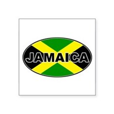 "Cute Jamaica Square Sticker 3"" x 3"""