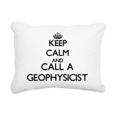 Keep calm and call a Geo Rectangular Canvas Pillow