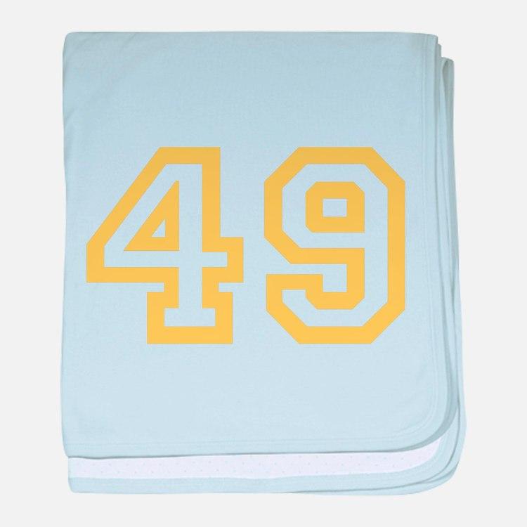 GOLD #49 baby blanket