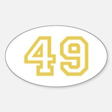 GOLD #49 Decal
