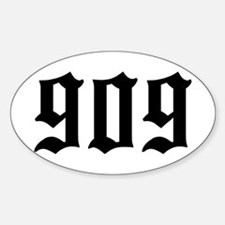 """""""909"""" Oval Decal"""