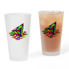 Pyraminx cude painting01B Drinking Glass