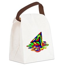 Pyraminx cude painting01B Canvas Lunch Bag