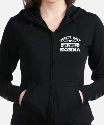 World's Most Awesome Nonna Women's Zip Hoodie