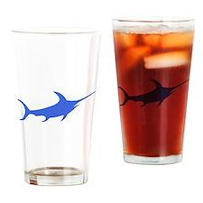 Blue Swordfish Drinking Glass