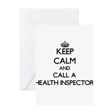 Keep calm and call a Health Inspect Greeting Cards