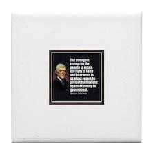 2nd Amendment Quote- Thomas Jefferson Tile Coaster