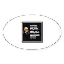 2nd Amendment Quote- Thomas Jefferson Decal