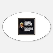 2nd Amendment Quote- Thomas Jefferson Decal