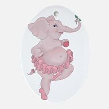 Elephantina Ballerina Ornament (Oval)