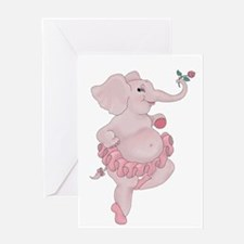 Elephantina Ballerina Greeting Cards