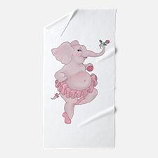 Elephantina Ballerina Beach Towel