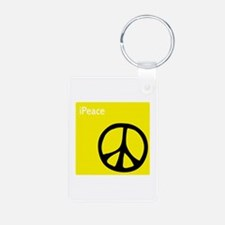 iPeace Symbol Yellow Keychains