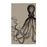 Vintage octopus in mocha duotone 3x5 Rugs