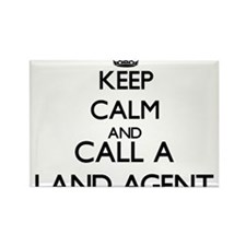 Keep calm and call a Land Agent Magnets