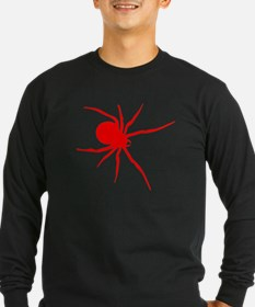 Red Black Widow Spider Long Sleeve T-Shirt