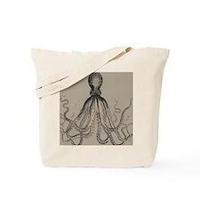Vintage Octopus in Mocha duotone Tote Bag