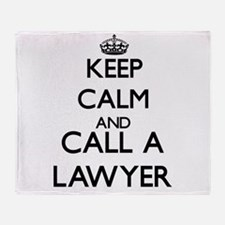 Keep calm and call a Lawyer Throw Blanket