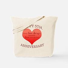 5th. Anniversary Tote Bag