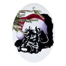 Oval Ornament natural ear santa