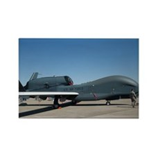 Global Hawk Rectangle Magnet