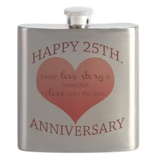 25th. Anniversary Flask