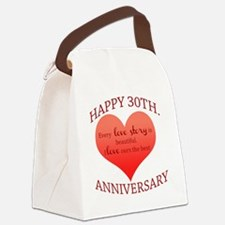 30th. Anniversary Canvas Lunch Bag