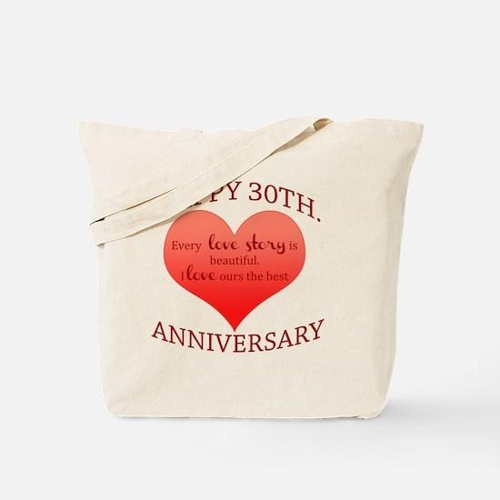 30th. Anniversary Tote Bag