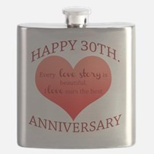 30th. Anniversary Flask