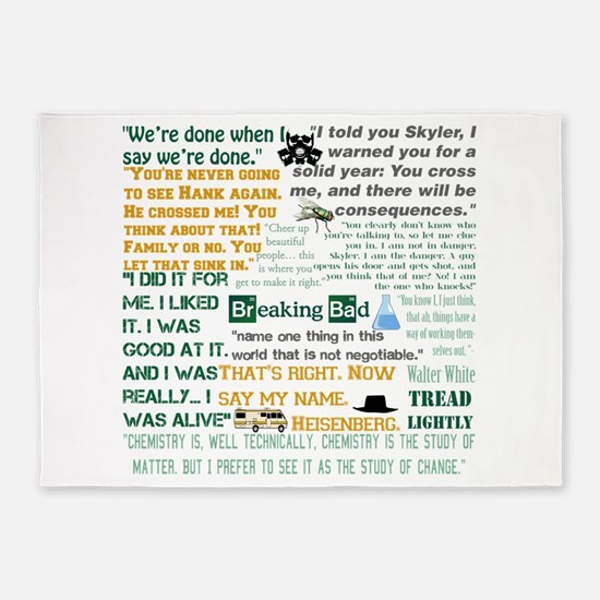 Walter White Quotes 5'x7'Area Rug