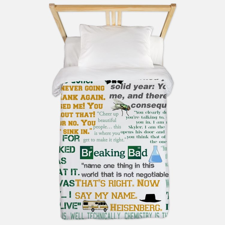 Walter White Quotes Twin Duvet