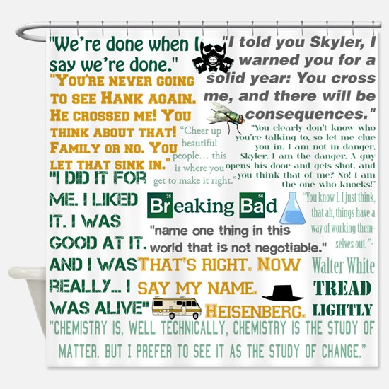 Walter White Quotes Shower Curtain