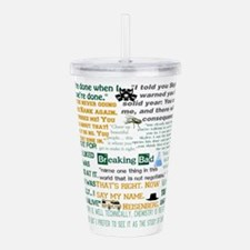 Walter White Quotes Acrylic Double-wall Tumbler