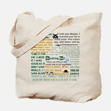 Walter White Quotes Tote Bag