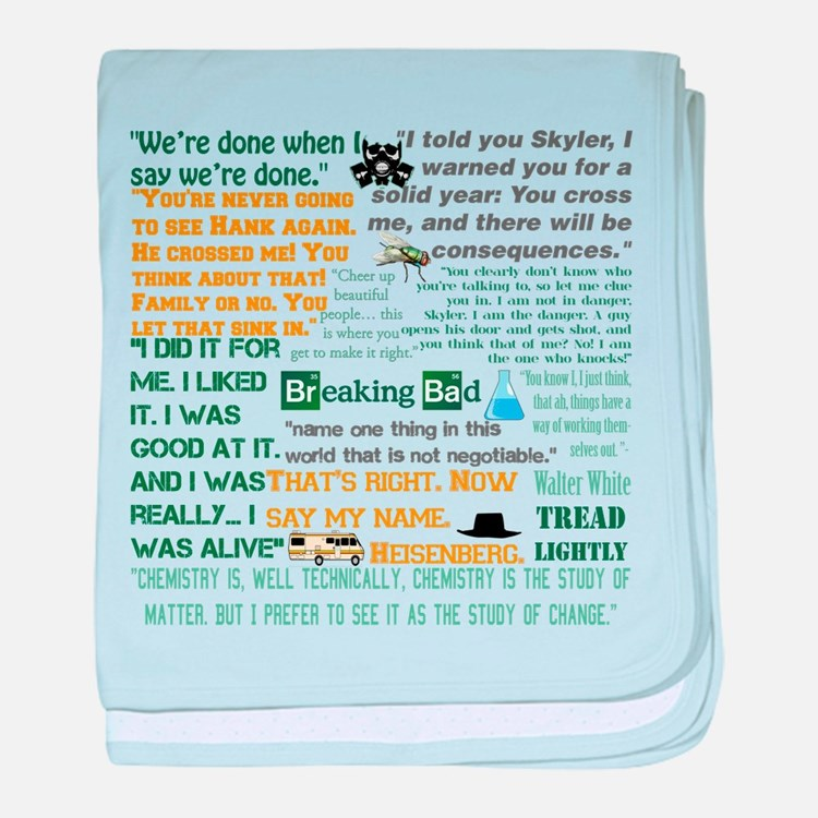 Walter White Quotes baby blanket