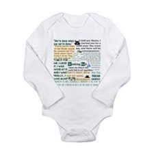 Walter White Quotes Long Sleeve Infant Bodysuit