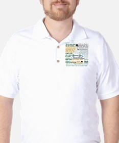 Walter White Quotes Golf Shirt