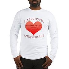 35th. Anniversary Long Sleeve T-Shirt