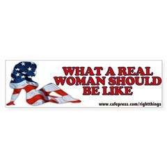 A REAL Woman Bumper Bumper Sticker