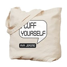 Ava Jerome Fluff Yourself White Bubble Tote Bag