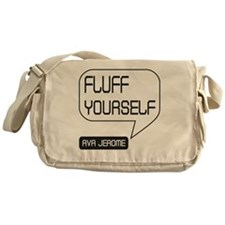 Ava Jerome Fluff Yourself White Bubb Messenger Bag