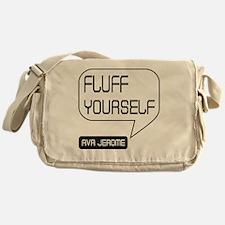 Ava Jerome Fluff Yourself White Bubb Messenger Bag
