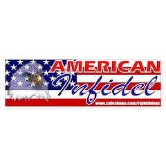 American Infidel Political Bumper Bumper Sticker