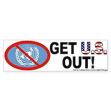 U.S Out of UN Bumper Bumper Sticker