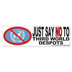 No UN Bumper Sticker