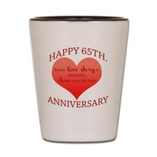 65th. Anniversary Shot Glass