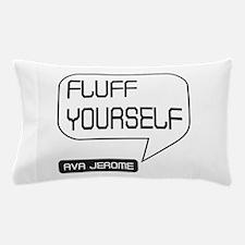 Ava Jerome Fluff Yourself White Bubble Pillow Case